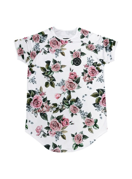 VINYL ART CLOTHING T-SHIRT WITH ALL OVER FLORAL