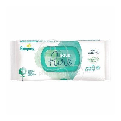 PAMPERS - PURE Aqua Μωρομάντηλα - 48τεμ.
