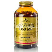 Solgar LECITHIN 1360mg - Αδυνάτισμα, 250 softgels