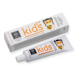Apivita kids 2  toothpaste with pomegranate   propolis 50ml