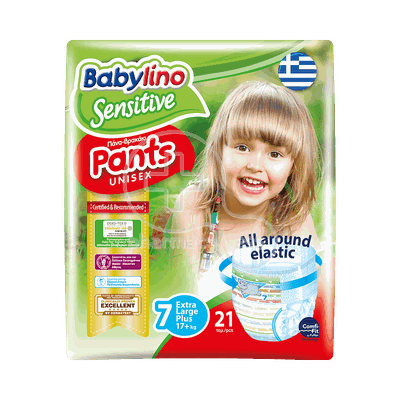 BABYLINO - SENSITIVE Pants Unisex Extra Large Plus No7 (17+kg) - 21τεμ.