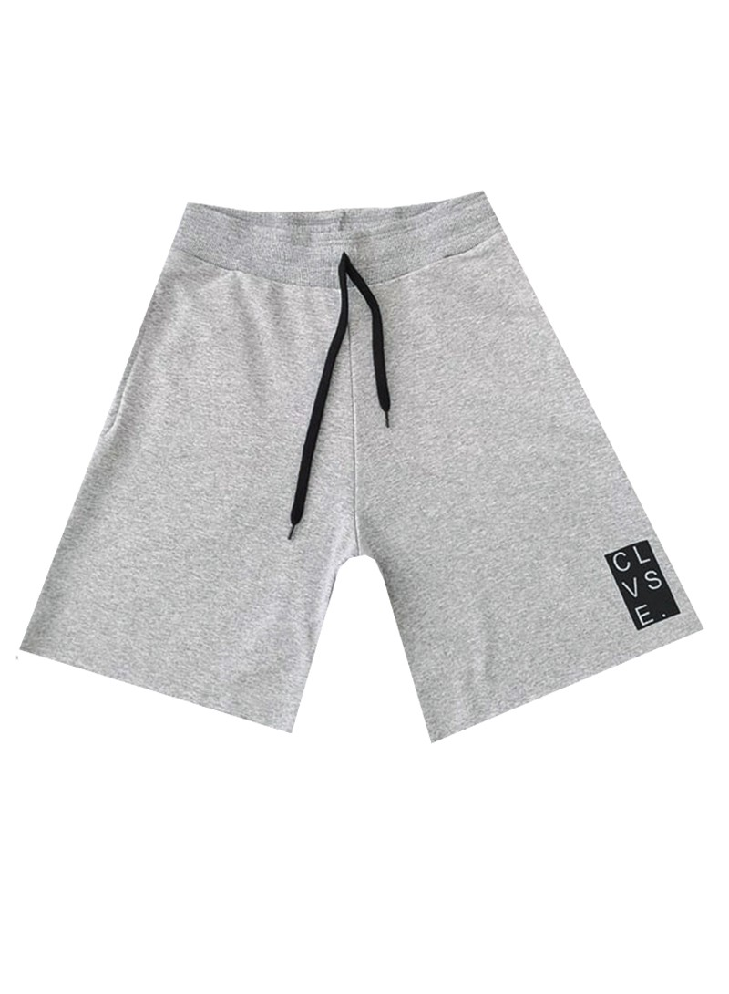 CLVSE SOCIETY GREY LOGO SHORTS