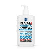 INTERMED - REVAL Plus Antiseptic Hand Gel Natural - 500ml - Σκοτώνει τα Μικρόβια σε 60΄΄