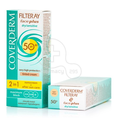 COVERDERM - FILTERAY Face Plus Dry/Sensitive Tinted Cream SPF50+ (Light Beige) - 50ml