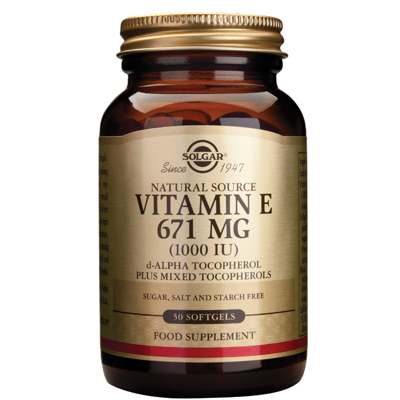 Vitamin E Natural 200IU/400IU/1000IU softgels