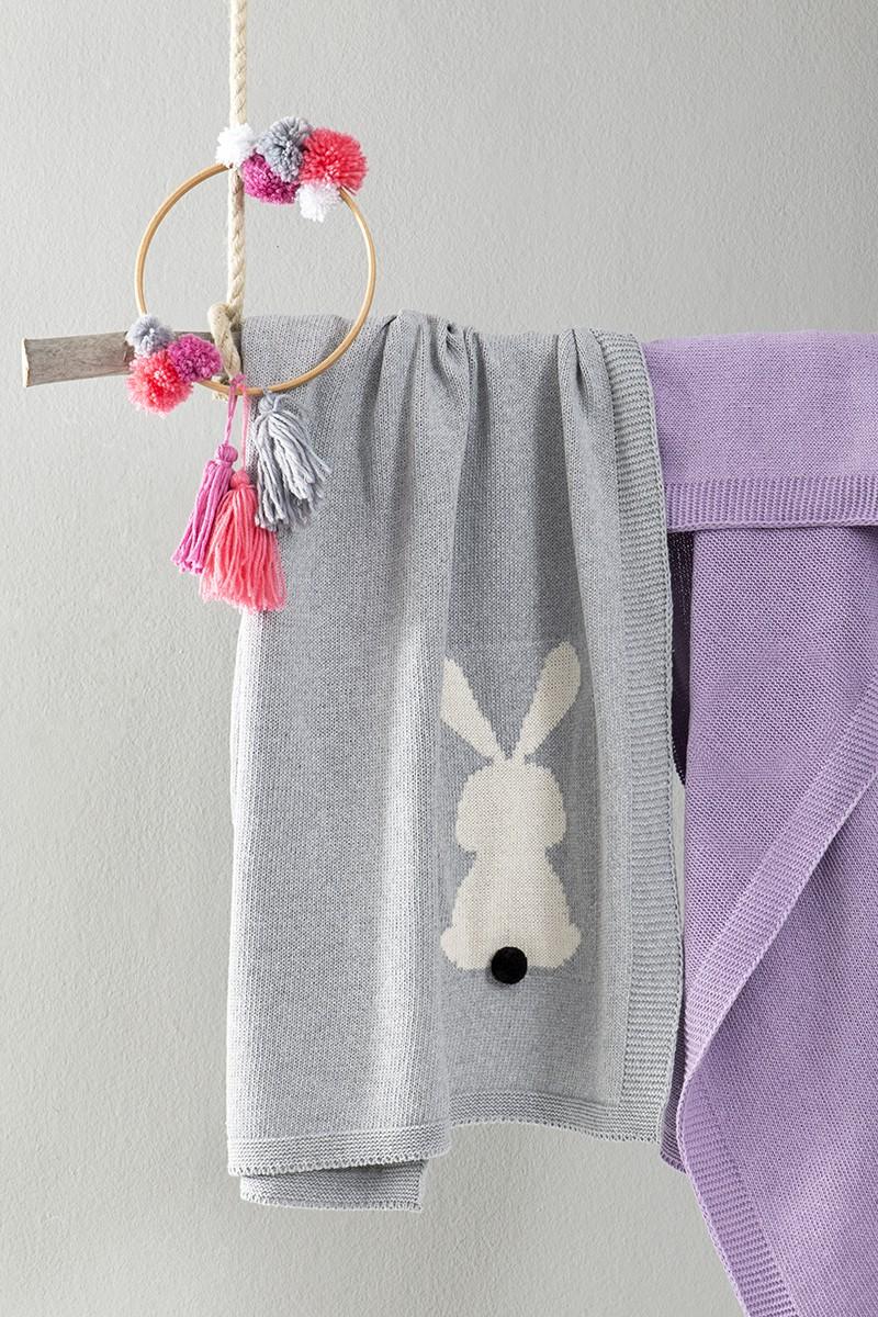 e4882957fac9 Κουβέρτα Honey Bunny - Gray