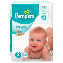 Pampers Procare Premium Protection No.2 (Mini) 3-6 kg Βρεφικές Πάνες, 36 τεμάχια.