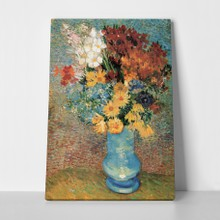 Van gogh vase with daisies and anemones a
