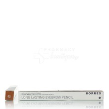 Korres Long Lasting Eyebrow Pencil - 02 (Medium Shade) Μεσαία Απόχρωση, 1.29gr