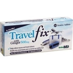 Unipharma TravelFix with Ginger 500mg (10 δισκία)