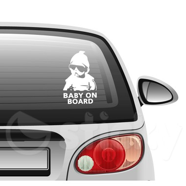Baby on board 10 on car