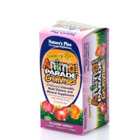 NATURE'S PLUS - SOURCE OF LIFE ANIMAL PARADE Multi Vitamin & Mineral Gummies (Cherry, Orange & Grape) - 50gummies