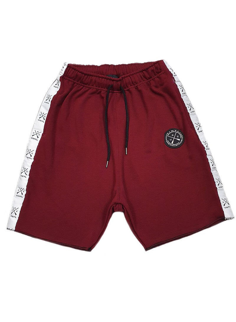 VINYL ART CLOTHING BORDEAUX STRIPE SHORTS