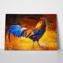 Canvas colorful rooster 793832110 a