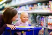 Baby supermarket shopping