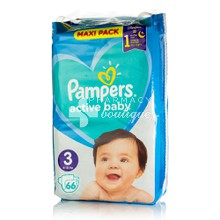Pampers No.3 (6-10kg) - Active Baby Maxi Pack, 66τμχ
