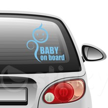 Baby on board 4 on car