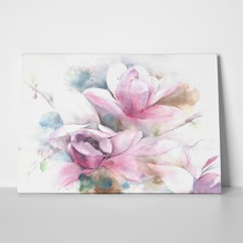 Magnolia flower tree tulip watercolor painting 394851853 a