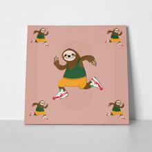 Happy sloth running 712860520 a