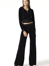 FASHION BOOTCUT VELOUR PANTS
