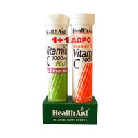 HEALTH AID VITAMIN C 1000MG PLUS ECHINACEA 20EFF. TABL LEMON (PROMO+VITAMIN C 1000MG 20EFF. TABL)