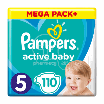 PAMPERS - MEGA PACK+ Active Baby Νο5 (11-16kg) - 110 πάνες