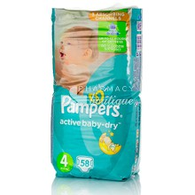 Pampers No.4 (8-14 kg) - Active Baby Dry, 58τμχ