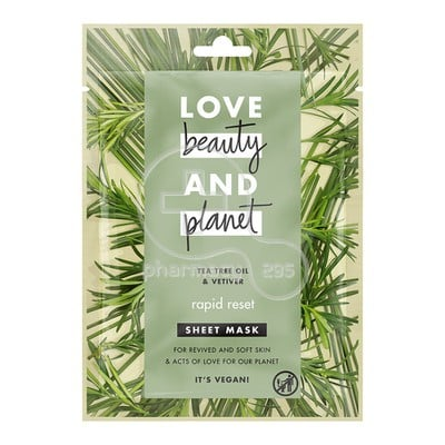 LOVE BEAUTY AND PLANET - Face Sheet Mask Tee Tree Oil And Vetiver - 21ml