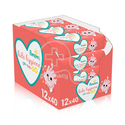 PAMPERS - PROMO PACK 12 ΤΕΜΑΧΙΑ KIDS HYGIENE On-The-Go Baby Wipes - 40τεμ.