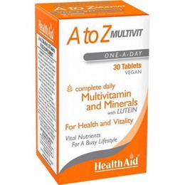 Health Aid A to Z Multivit with Lutein, Πολυβιταμίνες 90 tabs