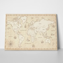 Vintage style illustration world map 601754189 a