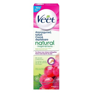 Veet natural inspirations apotrichotiki krema 100ml enlarge