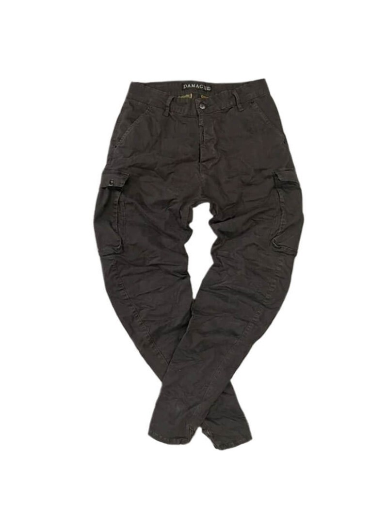 DAMAGED JEANS GREY CARGO PANTS R33C