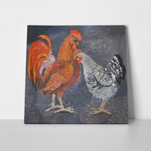 Standing rooster oil painting picture 115804702 a