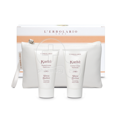 L'ERBOLARIO - PROMO PACK KARITE Nourishing Bath Cream (75ml) & Nourishing Body Cream (75ml)