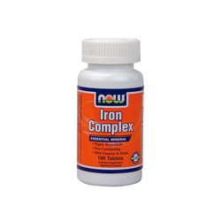 Now Iron Complex Vegetarian, 100 Tabs (+Folic Acid)