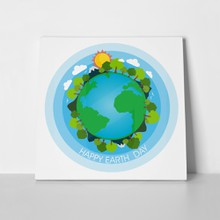 Happy earth day concept 1050065627 a