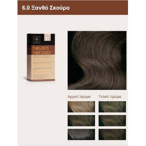 Apivita nature s hair color 6.0