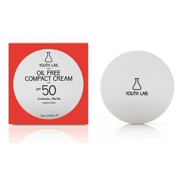 Youth Lab. Oil Free Compact Cream Spf 50 Combination Oily Skin, Medium Color, Αντιηλιακή Compact & Bronze, Ματ Τελείωμα 10gr