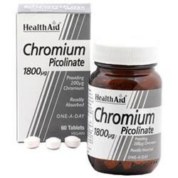 Health Aid Chromium Picolinate 1800mg 60veg.tabs