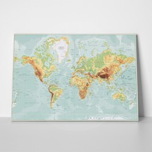 Physical world map retro colors 612379400 a