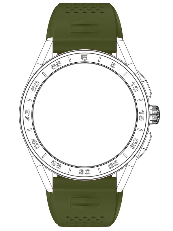 Connected Khaki Rubber Strap