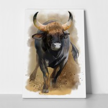 Bull watercolor painting 583206283 a