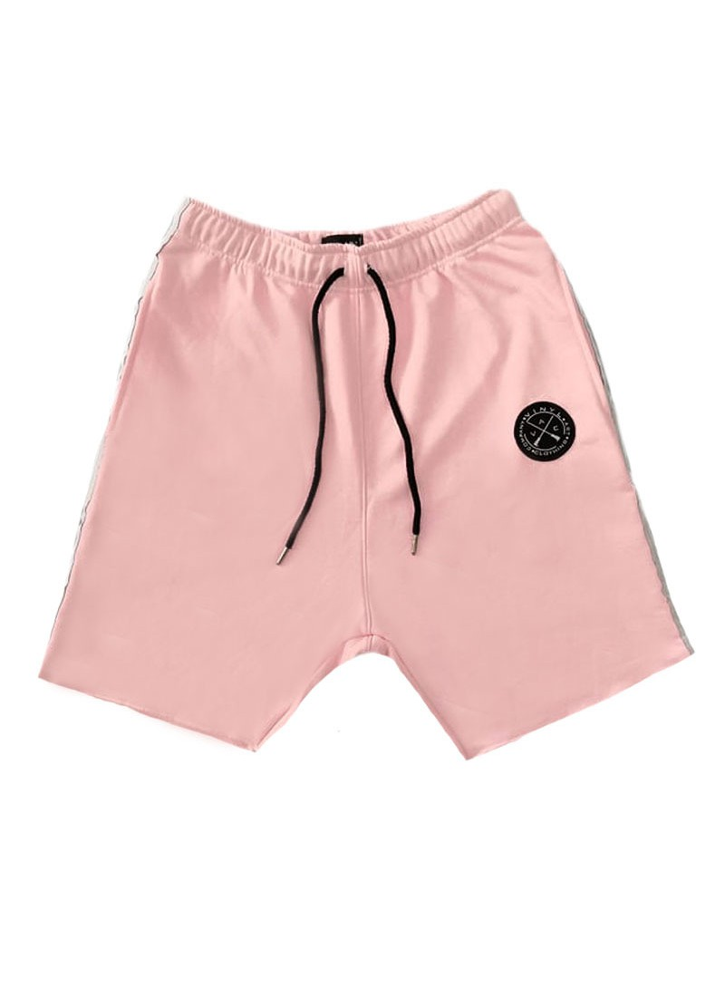VINYL ART CLOTHING PINK SHORTS WITH SIDED STRIPES