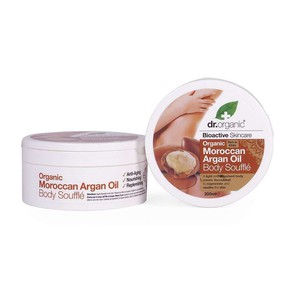Dr organic moroccan argan oil body souffle 200ml