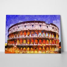 Colorful illuminated colosseum rome 618531548 a