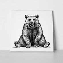 Engraved funny bear 324985223 a