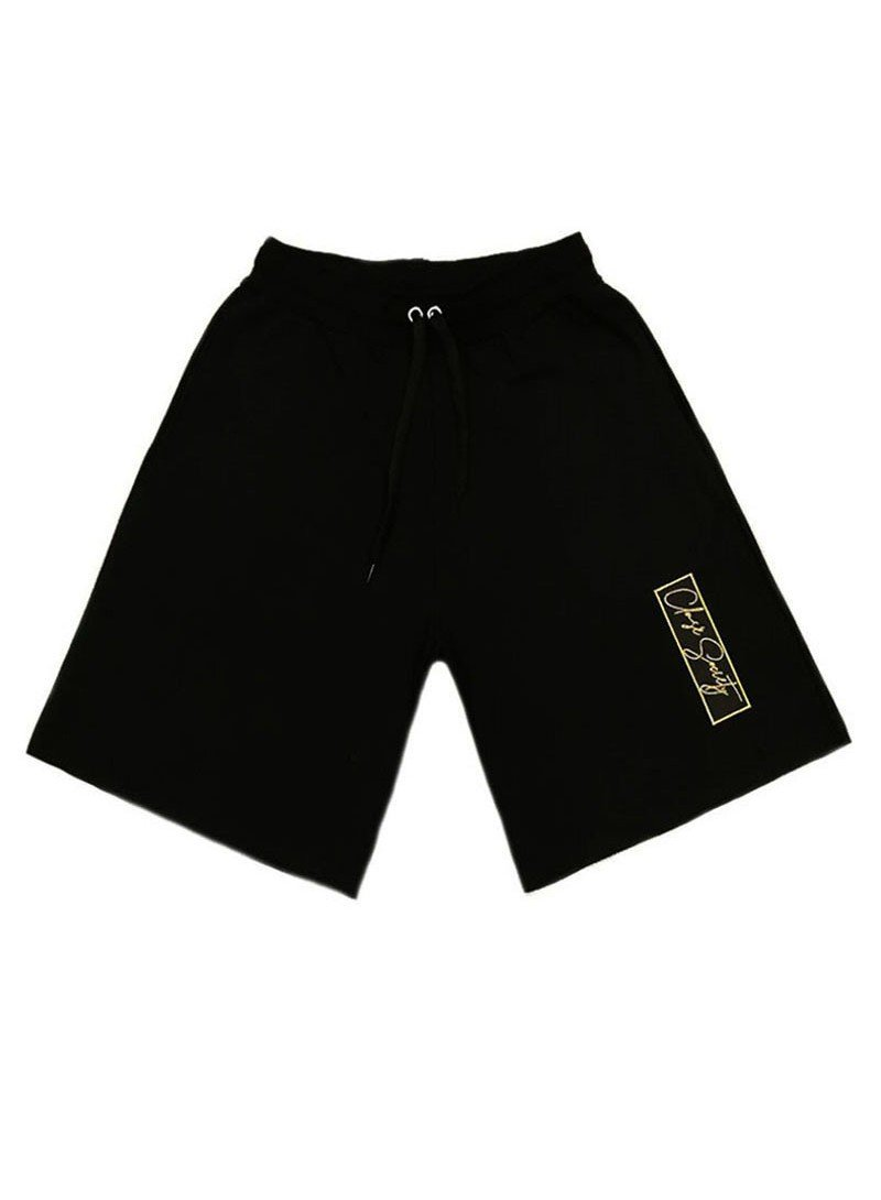CLVSE SOCIETY BLACK GOLD PATCH SHORTS