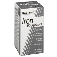 HEALTH AID IRON BISGLYCINATE 30MG 90VEG.TABL