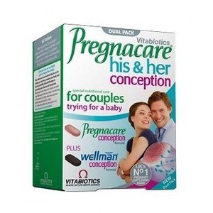 VITABIOTICS Pregnacare his & her conception 60tabs/2x30tabs dual pack